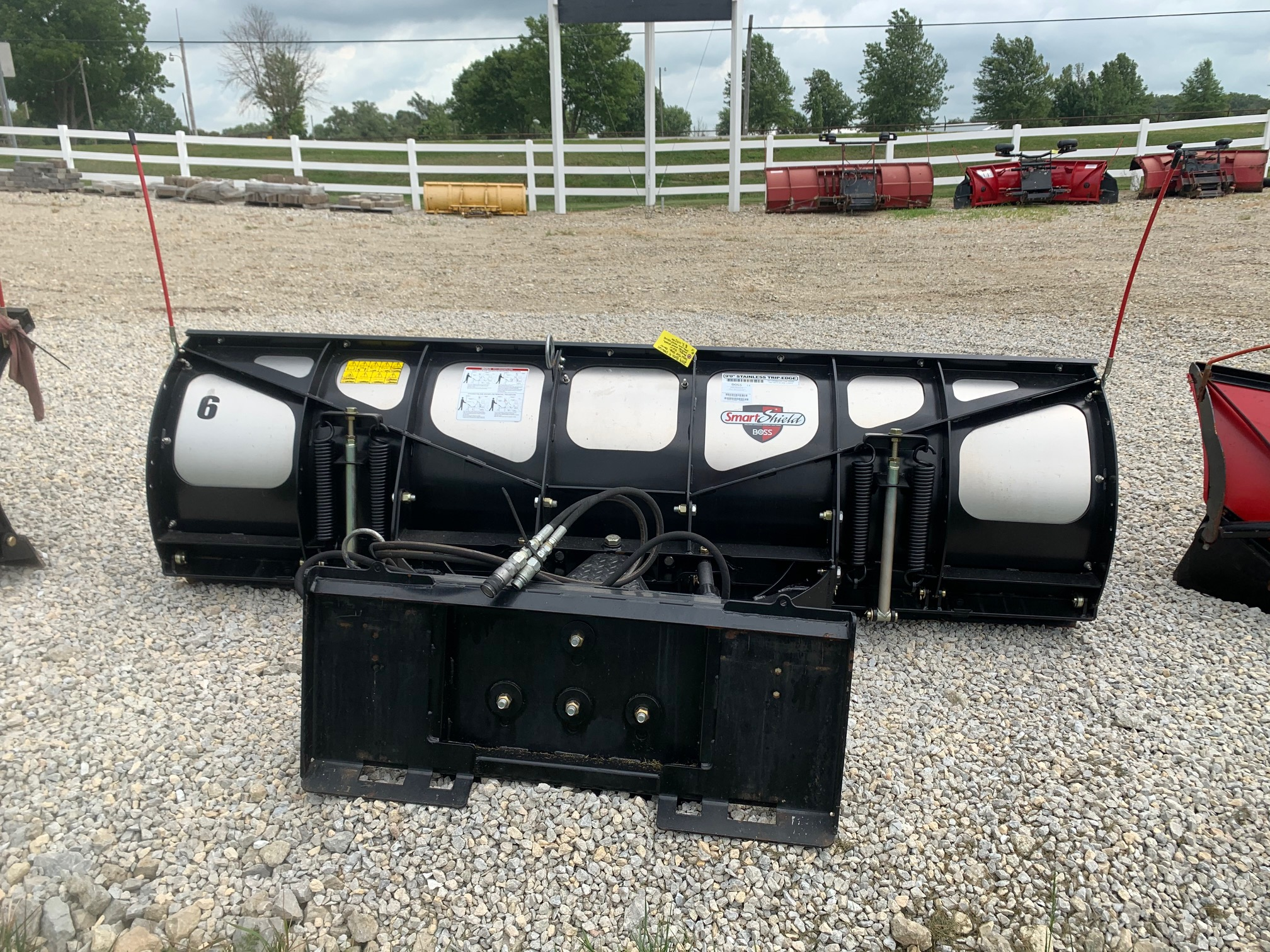 2019 Boss 9ft stainless skidsteer plow # 6 (2)